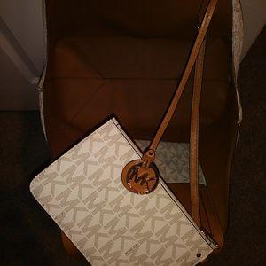 Michael Kors Tote Bag Large Cream & Brown
